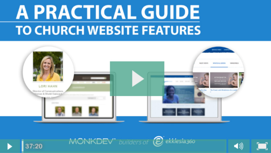 Recording A Practical Guide To Church Website Features